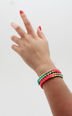 Colourfull bracelet beach bracelet neon by Themagicofcolors, $15.00