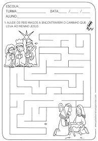 A Arte de Ensinar e Aprender: Atividades pronta - Labirinto com temática natalina