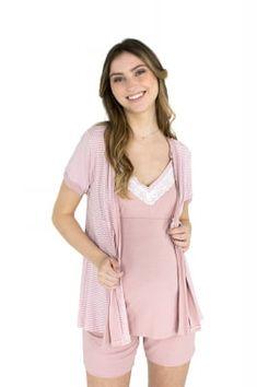 Está esquentando!  Lançamento na cor Rosé para a primavera verão 2020. Peça chave no guarda roupa das mamães lactantes. Para as clássicas e modernas, além do conforto e facilidade na amamentação, confeccionamos essa peça no rosé tendência. Além do rosé, essa peça está disponível no rosa e cinza. www.damanecta.com.br #pj #pijama #classica #moderna #maternidade #outubrorosa #atacado #varejo Peplum, Rompers, Dresses, Women, Fashion, Pink Grey, Spring Summer, Wardrobe Closet, Babydoll Sheep