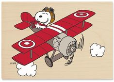Snoopy Flying Ace Free Clipart | Peanuts - Snoopy's Airplane :: Creative Play Stamps - Rubber Art ...