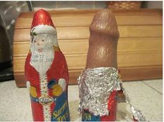 (Shared from) MidgetMomma.com said: I think they might want to reconsider how they shape the actual chocolate for the Chocolate Santas
