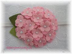 Baby headbands Felt Flower Headband Small Wool Felt Hydrangea Ellie-Cotton Candy Pink, Soft Pink-U PICK Headband, or Hair Clip, or Bro