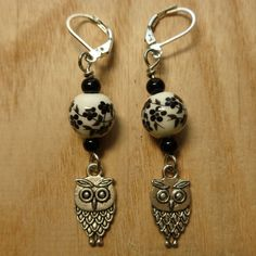 Gift for Knitter Women Her Knitting Crochet Accessories Stitch Markers Earrings Removable Dangle Notions Supplies Dangle Round Rose Owl Dog by 100Creations, $9.99 USD