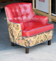"Custom Club Chairs custom order - vintage upholstered swivel club chairs - "" bobbi's"