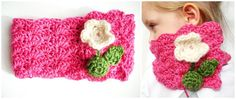 Children's Crochet Cowl in Bamboo Wool with Handmade Peruvian Wool Flower Buttons. $34.00, via Etsy.