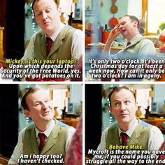 Mycroft is a whole different level of sass.<-- only a mother can bring out that level of sass