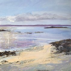Scottish Isles and Seascapes - Tracy LevineTracy Levine Beach Landscape, Landscape Art, Watercolor Landscape Paintings, Am Meer, Seascape Paintings, Peter Wileman, Mixed Media, Pastel Art, Impressionism