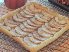 Walking on Sunshine Recipes:  Puff Pastry Apple Tart...I make this but I add finely chopped nuts when done.