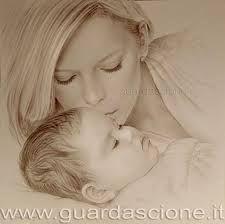 amore di mamma .....disegni a matita