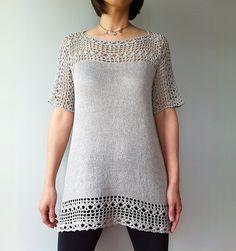 Ravelry: Julia - floral lace tunic (crochet+knit) by Vicky Chan