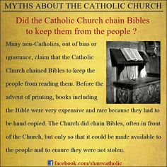 Myths about the Catholic Church #bibles