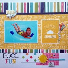 Looking for summer layout inspiration...look no further. Visit Scrapbook.com today.