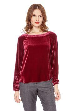 Venda Armand Ventilo / 33559 / Tops e camisas / Tops, blusas e camisolas de alças / Top de veludo Bordô