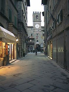 Cortona, Italy - the town hall in the photo is where we got married!!