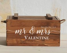 Personalised Wedding Box with lock post box with lid for cards Rustic Card Box Wedding, Money Box Wedding, Wedding Boxes, Wedding Cards, Wedding Signs, Wedding Ideas, Donation Wedding Favors, Wood Card Box, Inexpensive Wedding Favors