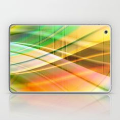 pattern pastel yellow and green Laptop & iPad Skin by Christine Bässler