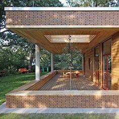Forscherkindergarten Apfelbaumchen, by Winkens Architekten. Brick & wood    @Anthony Vargas Laney