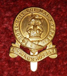 14th Kings Hussars cap badge 1915-22 Military Cap, Military Uniforms, Army Hat, Crests, British Army, Troops, Flags, Badge, Police