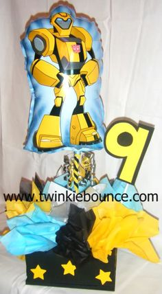 Transformers party centerpiece