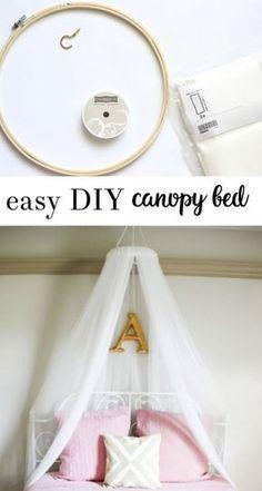 diy canopy bed | girls bedroom | diy crafts | ikea crafts