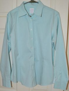 Brooks Brothers Women's Teal Long Sleeve Dress Shirt (16) #BrooksBrothers #ButtonDownShirt #CareerCasualDressy