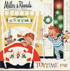 Miller & Rhoads 1958 Christmas catalog cover