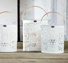 Riverdale Joy of Living Collectie Sensational Summer Rustic Lanterns, White Lanterns, Candle Lanterns, Paper Lanterns, Rivera Maison, Joy Of Living, Living Room, Paint Buckets, Candels