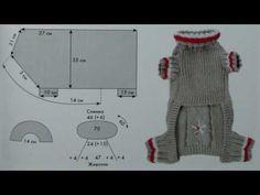 Вязаная одежда для собак! Комбинезон собака! Вязаная одежда для собак схема - YouTube