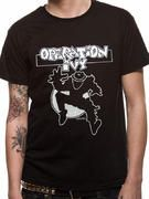 Officially Licensed Operation Ivy imported T-shirt design printed on a Black 100% cotton short sleeved T-shirt.