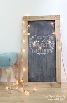 DIY Gold String Globe Party Lights
