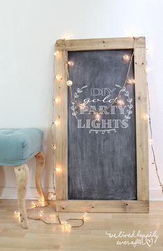 DIY Gold String Globe Party Lights