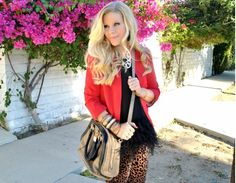 Red blazer outfits