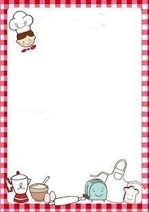 Math Border, Food Border, Mini Chef, Envelope Writing, Book Clip Art, Food Menu Design, Cupcake Card, Recipe Scrapbook, Printable Recipe Cards
