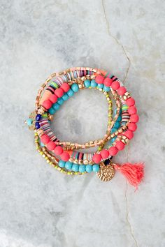 You want a wrist full of fabulous bracelets, as if you've spent a ton of time cultivating them, but you're on a budget and you're short on time? Totally get it, and we've got the solution! Bracelet measures in diameter. Cute Cardigans, Cute Sweaters, Sweaters For Women, Old Fashioned Cornbread, Beaded Necklace, Beaded Bracelets, Cold Weather Fashion, Summer Bracelets, Stylish Dresses