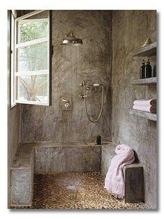 Awesome Bathroom Shower Ideas for Small Bathroom 32 – GooDSGN Industrial Bathroom, Rustic Bathrooms, Dream Bathrooms, Amazing Bathrooms, Modern Bathroom, White Bathrooms, Luxury Bathrooms, Master Bathrooms, Minimalist Bathroom