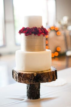 narrow cake stand - photo by Rachel Gomez Photography http://ruffledblog.com/italian-wedding-inspiration-with-pops-of-red
