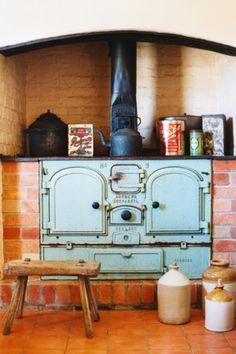 A kidney for an original wood burning cooker.