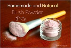Homemade cosmetics have long been a goal. I've researched many every day items includingnatural eyeliner,concealing powder, this blush powder, and more!