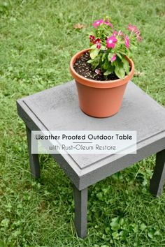 DIY Weather Proofed Table {with Restore}