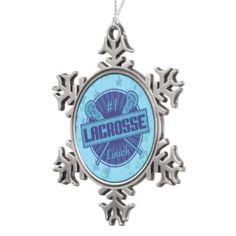 #1 Lacrosse Coach Christmas Tree Ornament