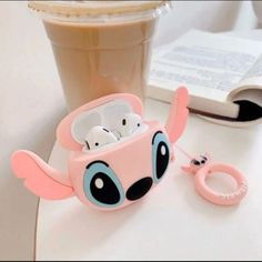 Brand New Premium Airpod Case Cover Style: Pink Stitch - Angel - Experiment 624 For: Apple Airpods Generations 1 and Material: Silicone Condition: New * Shock Proof *USPS Shipping Business days). Cute Cases, Cute Phone Cases, Iphone Phone Cases, Ipod, Stitch And Angel, Lilo And Stitch, Apple Earphones, Cute Headphones, Accessoires Iphone