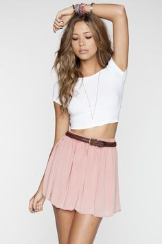 giselle top and sylvia skirt brandy melville<3