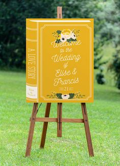 wedding welcome sign printable wedding sign large by Foxbairn