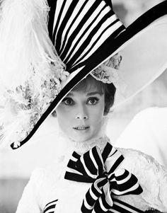 "Audrey Hepburn as ""Eliza Doolittle"" in My Fair Lady. Photo by Cecil Beaton My Fair Lady, Audrey Hepburn, Women's Dresses, Moda Pin Up, Eliza Doolittle, Cecil Beaton, Moda Vintage, Love Hat, Royal Ascot"
