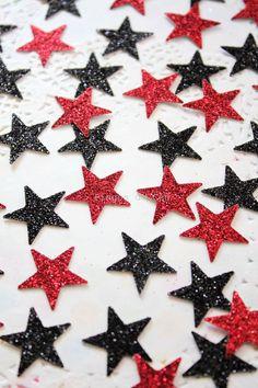 100 Stars  Mix Paper Confetti  Glitter Confetti  by pingosdoceu
