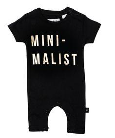 Huxbaby Organic Minimalist Romper | Cool Baby Clothes | Tiny Style | Australia