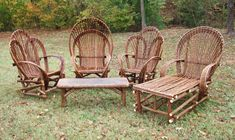This is the willow furniture that my grandpa builds. He has built it for most of his life including the furniture in THIS picture!