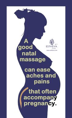 A good pre and post-natal massage can do wonders during and after your pregnancy. Get one today. www.estheva.com/massages.htm #postnatalmassage #prenatalmassage #massage