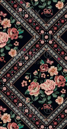 Textile Prints, Textile Patterns, Textile Design, Floral Prints, Cute Wallpapers, Wallpaper Backgrounds, Iphone Wallpaper, Pattern Art, Pattern Design