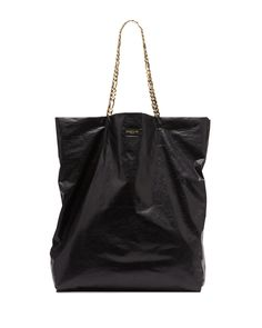 Lanvin Large Chain-Strap Lambskin Tote Bag, Black - Neiman Marcus